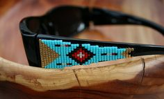 Beaded Sunglasses  in a Peyote Beaded Southwest by TombstoneBeads