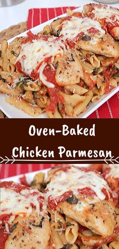 Oven-Baked Chicken Parmesan Best Parmesan Chicken Recipe Only on this Site. Famous Recipe Chicken, Clam Recipes, Great Chicken Recipes, Quick Recipes, Seafood Recipes, Beef Recipes, Appetizer Recipes, Soup Recipes, Oven Baked Chicken Parmesan