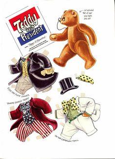 pour s'amuser un peu, au lendemain des élections américaines, votez pour ce petit ourson en téléchargeant cette planche !...