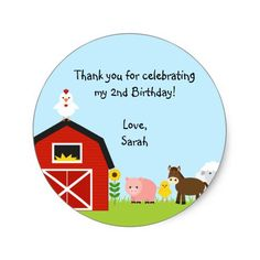Shop Barnyard Buddies Sticker created by NoteworthyPrintables. Personalize it with photos & text or purchase as is! Farm Birthday, Animal Birthday, Farm Party, Stickers Online, Different Shapes, Birthday Party Invitations, Sticker Design, Custom Stickers, Activities For Kids