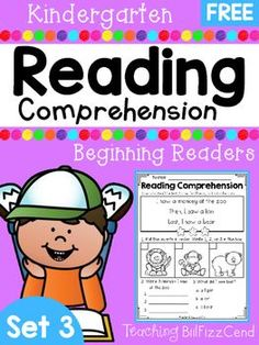 FREE Reading Comprehension For Beginning Readers4 Free Emergent Reading Comprehension and Fluency Passages.To see the full packet here:Reading Comprehension SET 3 - Beginning ReadersThese reading comprehension passages are great for literacy centers, guided reading, homework and more!!These READING COMPREHENSION AND FLUENCY PASSAGES will give your students confidence in reading.*Please check out the preview for a closer look at the product*You may also be interested in:Reading Fluency and Co...