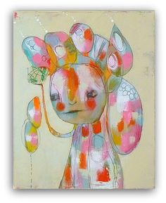 "Original Mixed Media Painting by Christina Romeo 16 x 20....""RESOURCEFUL"""