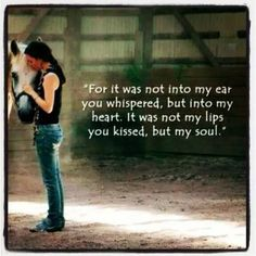 For it was not unto my ear. #horsequote #stylemyride