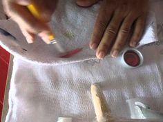como passar o risco pra fralda com carbono(pintura em fralda) - YouTube