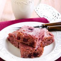 "Sweet and Tart I Bowl Brownies with Dried Cranberries 8"" square or Raisins."