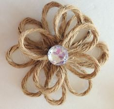 Purple Hues and Me: Rustic & Chic Jute Twine Flowers on Glass Ornaments