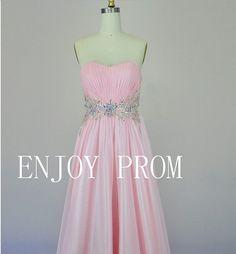 A-line Sweetheart beading Chiffon floor-Length Bridesmaid/Evening/Prom Dress$118.00
