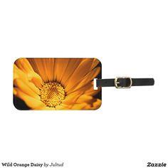 Wild Orange Daisy Luggage Tag. #beautiful #flowers #elegant #photograph #giftsideas #travel