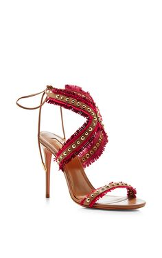 Aquazzura leather sandal with cross strapped front