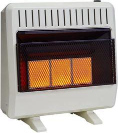 Avenger FDT3IR Dual Fuel Ventless Infrared Heater, 30,000 BTU Best Space Heater, Garage Heater, Tower Heater, Red Space, Flame Design, Infrared Heater, Heating Systems, Cabinet Design, Wall Mount