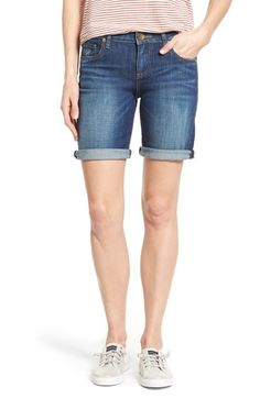 Free shipping and returns on KUT from the Kloth 'Catherine' Boyfriend Shorts (Tact) at Nordstrom.com. Essential denim shorts with perfectly placed fading and rolled hems are cut straight through the waist and hips for a touch of boyish slouch.