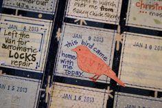 Calendar journal quilt.