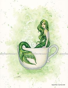 Mermaid Blend  8.5x11 inches printed on thick paper open edition SIGNED by the artist  copyright info is not on actual print  Ships in a cardboard envelope