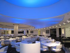 Diamond-Club-Barrisol-Ceiling Barrisol Ceiling, Light Talk, Fabric Structure, Commercial Lighting, Florida, Lounge, Windows, Table Decorations, Contemporary