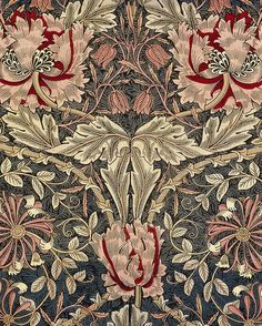 New art nouveau pattern textiles william morris ideas William Morris Wallpaper, William Morris Art, Morris Wallpapers, Of Wallpaper, Designer Wallpaper, Paisley Wallpaper, Wallpaper Patterns, Art And Craft Design, Design Art