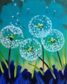 Dandelions painting