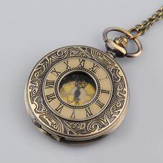 Vintage Women Rome Hollow Pocket Watch relogio de bolso Ellipse Jewlery Sweater Chain Pocket Pendant Classical Necklace Newest