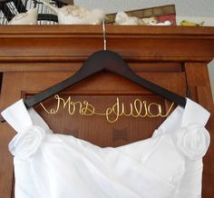 Personalized Bridal Hanger one Line Custom by BellsAndKisses, $19.99