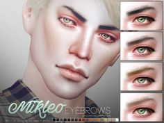 Realistic eyebrows in 18 colors. All ages, all genders. Found in TSR Category 'Sims 4 Facial Hair'