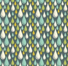 Tula Prince Charming Fabric - Rain Drops Storm. Perfect for the Northwest