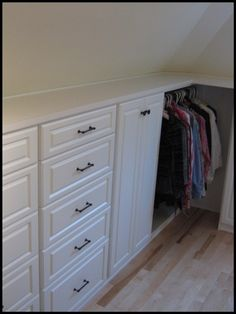 47 Ideas Attic Closet Ideas Angled Ceilings Slanted Walls Built Ins 47 Ideas Attic Closet Ideas Angled Ceilings Slanted Walls Built Ins Closet Home, Closet Bedroom, Storage Spaces, Wall Storage, Closet Storage, Home Office Design, Attic Closet, Storage