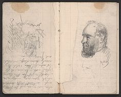Citation: Notebook of sketches and writings, 1862 . Henry Mosler papers, Archives of American Art, Smithsonian Institution.
