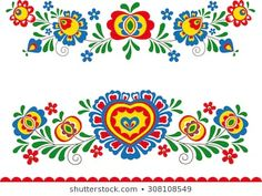 Find Folk Ornaments stock images in HD and millions of other royalty-free stock photos, illustrations and vectors in the Shutterstock collection. Folk Art Flowers, Flower Art, Folk Embroidery, Embroidery Patterns, Fabric Patterns, Mexican Wall Art, African Crafts, Scandinavian Folk Art, Truck Art