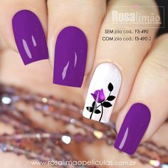 What Christmas manicure to choose for a festive mood - My Nails Great Nails, Cute Nails, Spring Nails, Summer Nails, Hair And Nails, My Nails, Purple Nail Art, Colorful Nails, Flower Nails