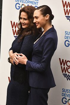 Lynda Carter and Gal Gadot attend the Wonder Woman UN Ambassador Ceremony at United Nations in New York City.