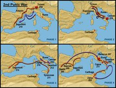 Fases Segunda guerra Púnica