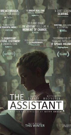 Directed by Kitty Green.  With Julia Garner, Matthew Macfadyen, Makenzie Leigh, Kristine Froseth. A searing look at a day in the life of an assistant to a powerful executive. As Jane (Julia Garner) follows her daily routine, she grows increasingly aware of the insidious abuse that threatens every aspect of her position. Insidious Movie, Imdb Tv, Rian Johnson, Matthew Macfadyen, Free Tv Shows, 2020 Movies, Popular Tv Series, Sundance Film, Riveting