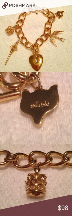 Limited Edition Stella and Dot Charm Bracelet This Limited limited-edition Alice in Wonderland themed gold charm bracelet is an excellent used condition. Stella and Dot brand. Designed by Alice by Temperley. Sold out quickly and really rare. Please see photos. Please ask any questions before purchasing. Stella & Dot Jewelry Bracelets