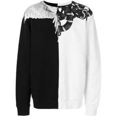 Marcelo Burlon County Of Milan Snake Wings sweatshirt ($465) ❤ liked on Polyvore featuring men's fashion, men's clothing, men's hoodies, men's sweatshirts, black and county of milan