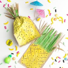 Lunch bag vitaminé / DIY ananas / Tropical DIY