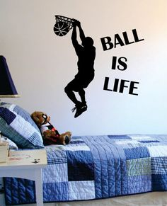 Ball Is Life Version 2 Basketball Court Sports Decal Sticker Wall Vinyl