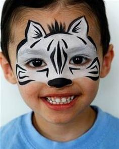 zebra face paint - Bing Images