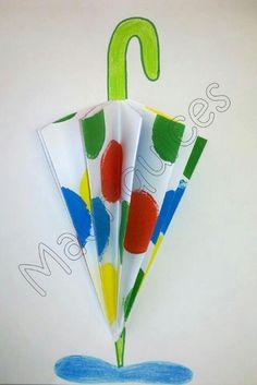 Umbrella crafts for preschool Kids Crafts, Rain Crafts, Toddler Crafts, Preschool Crafts, Autumn Crafts, Summer Crafts, Paper Art, Paper Crafts, Diy Paper