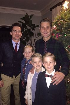 Matt Bomer's Christmas Photo With His Husband And Sons Is Adorable