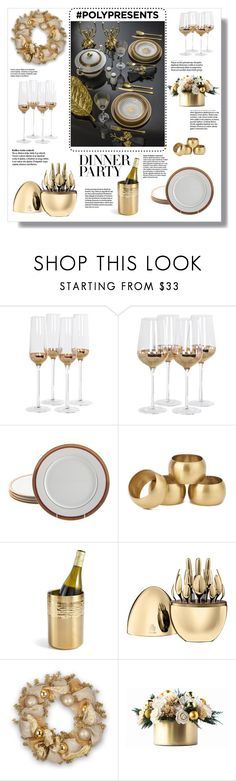 """#PolyPresents: Dinner Party"" by krista-zou ❤ liked on Polyvore featuring interior, interiors, interior design, home, home decor, interior decorating, Posh Totty Designs, Bernardaud, NKUKU and Martha Stewart"