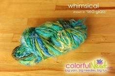 Funky Chunky Handspun Yarn by Colorful Nest in Seaglass  by TrickyKnits, $32.50 - save 10% with code PIN10 at https://www.etsy.com/listing/71270321/funky-chunky-handspun-yarn-by-colorful  #knitting #yarn
