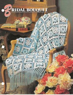 Bridal Bouquet Afghan Crochet Pattern from Annies Attic Crochet & Quilt Club #AnniesAttic