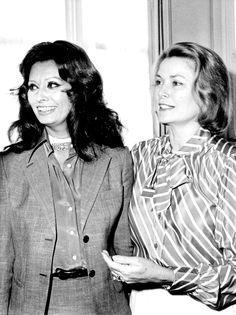 Sophia Loren and Princess Grace de Monaco, 1970s.