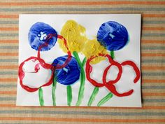 Food Stamping: an easy art craft for kids ages 2 & up