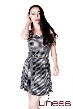 Vestido, Modelo 19472. Precio $230 MXN #Lineas #outfit #moda #tendencias #2014 #ropa #prendas #estilo #primavera #outfit #vestido