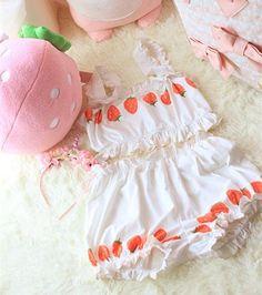 8026ba667b Strawberry Cream White Home Underwear Free shipping -himifashion Cute  Fashion
