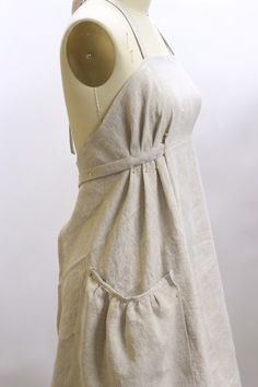 Any history on Aprons that I read, always begins with linen. It seems that linen was the first fabric used and I find it curious that somehow in todays culture it is largely ignored. No one I know has a linen Apron, this exclusion makes me curious as to how it got left behind. Unable to quiet ...