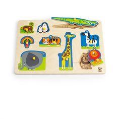 Hape Wild Animals Peg Puzzle   Cow & Lizard toy store