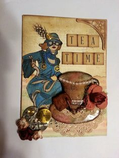 Steampunk card by Delores Miller