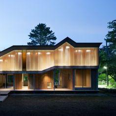 Angular roof helps Mount Fuji house by Hiroki Tominaga Atelier shed snow