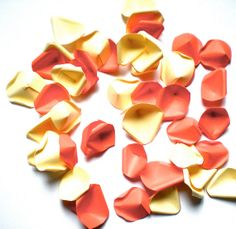 Peaches & Champagne Luxury  Paper Rose Petals  by decoraland, €16.49